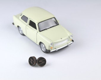 Trabant / Sachsenring earrings made of nut wood