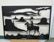 Desert Warrior, Metal Art, Southwestern, Native American, Handmade