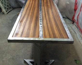 African zebra wood coffee table