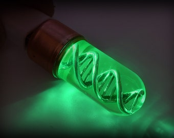 T-virus DNA USB Flash Drive 8/16/32/64GB (GREEN) . Double helix molecule. Steampunk  Science gadget. Cool Gift for him Birthday gift.