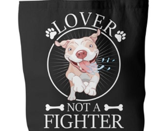 Large Tote Bag - Lover Not a Fighter | Everyday Womens Bag | Big Tote Bag | Everyday Tote Bag | Tote Bags For Women | Weekender Bag