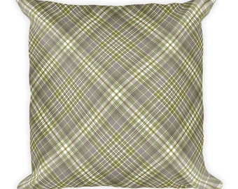 Simply Plaid Throw Pillow