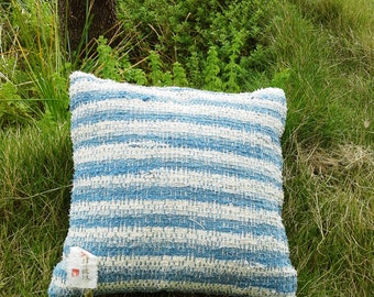 Hand woven cushion cover - Japanese vintage silk