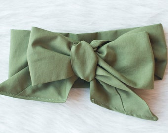 Forest green head wrap, solid Green headband , fabric head wrap, newborn headband, baby headband, toddler headband, baby head wrap