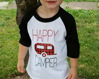 Happy Camper raglan top