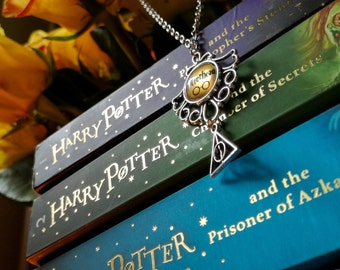 "Harry Potter ""POTTERHEAD""and Deathly Hallows Necklace"