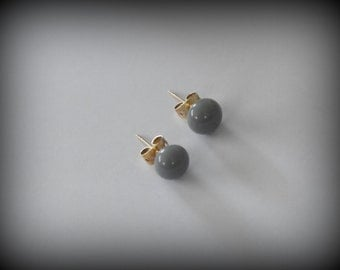 Stud Earrings-glass jewel