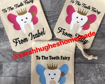 Personalised Tooth Fairy Bag / Pouch