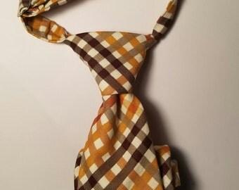 Caramel Plaid Neck Tie