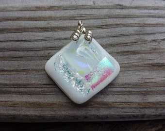 Dichroic Glass Sterling Pendant