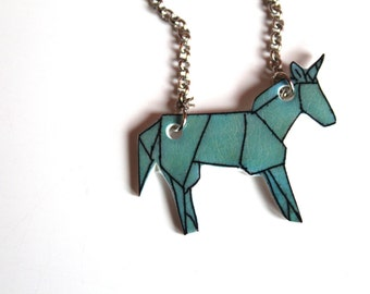 Blue style Unicorn origami