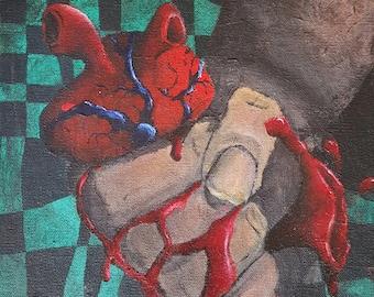 "Squish 9""x12"" Acrylic Painting"