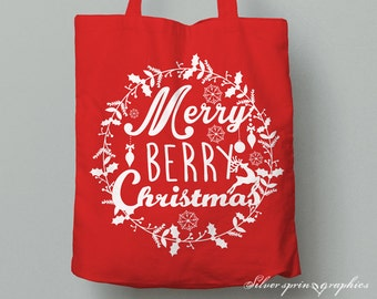 Merry Berry Christmas Tote Bag