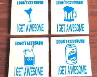 "4x4"" ceramic tile coasters"
