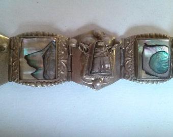 Mexican silver tone bracelet