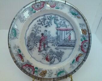Victorian transferware plate