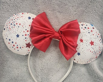 Red White and Blue Mouse Ears