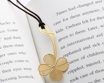 18 k gold flat small bookmark bookmark