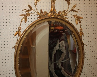 Gorgeous Gilt Gilded Gold Leaf Adams Friedman Brothers Mirror MINT