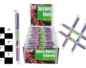 very berry cherry rock sticks 10 - 100