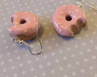 Pink Doughnut Earrings