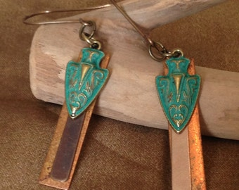 brass and copper arrowheads