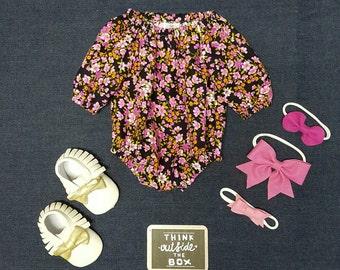 Size 000 Floral Playsuit