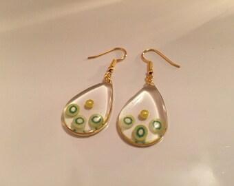 Kiwi fruit earrings