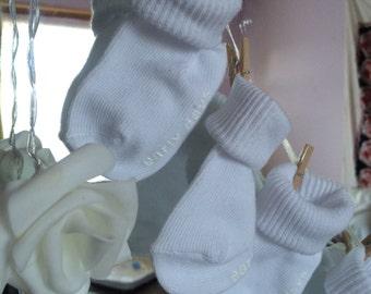 Newborn sock garland