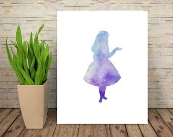 Alice in wonderland wall art digital print wall art printable