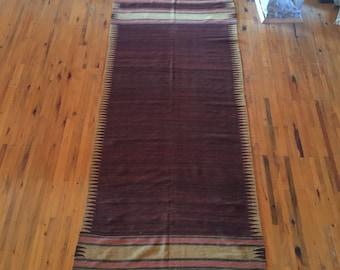 Vintage Turkoman Kilim Red Kilim Striped Design