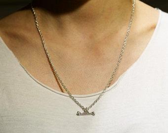 Silver Bone Necklace   Simple Silver Chain   Everyday Necklace   Simple Necklace   Minimalist Necklace   Thin Silver Chain   Bone Jewelry
