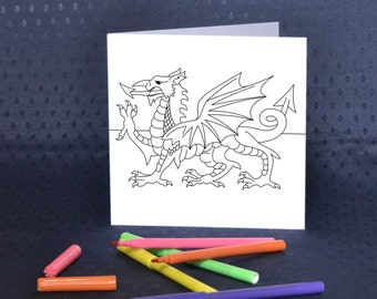 Welsh Dragon Greetings Card