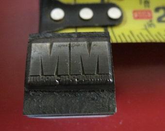 Vintage Zinc/Lead printing block -Minneapolis-Moline - Tractors