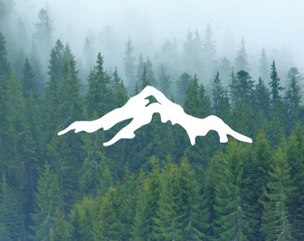 Mountain Decal / Nature Decals / Laptop Decals / Car Decals / Adventure Decals / Computer Decals / MacBook Decals / Window Decals