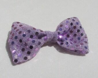 Light Purple/Pink Sequin Hair Bow