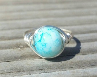 Clear Skies Wire Ring