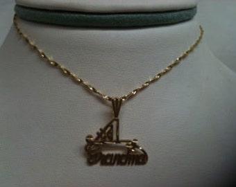 1 Grandma Pendant Necklace - 14k gold filled