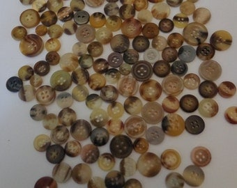 100 Vintage Brown Buttons