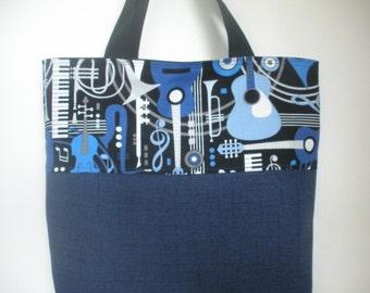 Blue Music Tote