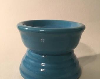 Antique, Ceramic Candle Holder - Blue
