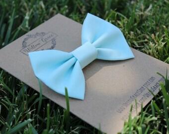 Glacier blue clip-on bow tie,  baby bow tie, toddler bow tie, boy bow tie, men's bow tie, light blue bow tie, ice blue bow tie