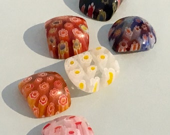 Millefiori Glass Beads 13 Assorted Colours