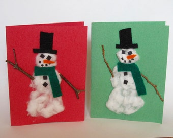 Snowman Cards (Set of 2)
