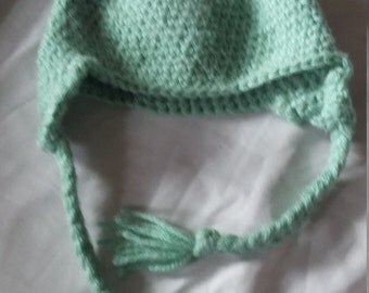 Light Green Baby Bear Hat-3 Month