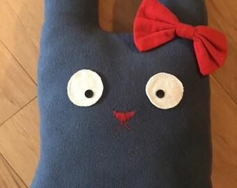 Blue Fleece Miss Bunny Pillow