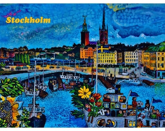 Good to know Fridge Magnet STOCKHOLM SWEDEN Photo Educational Vinyl FREE Shipping