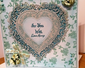 "Greeting Card ""For You With Love Always"""