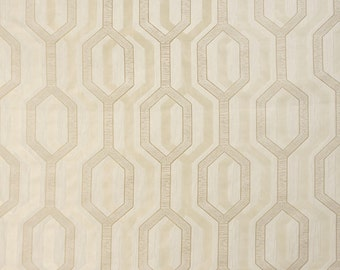 Upholstery/Drapery Jacquard Fabric Como 357 Champagne By The Yard