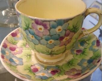 Old Pretty Vintage Tea Cup & Saucer